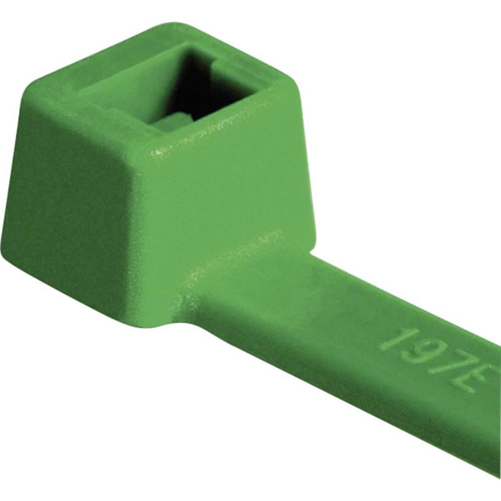 Kabelske vezice 150 mm zelene barve HellermannTyton 111-03014 T30R-PA66-GN 100 kos