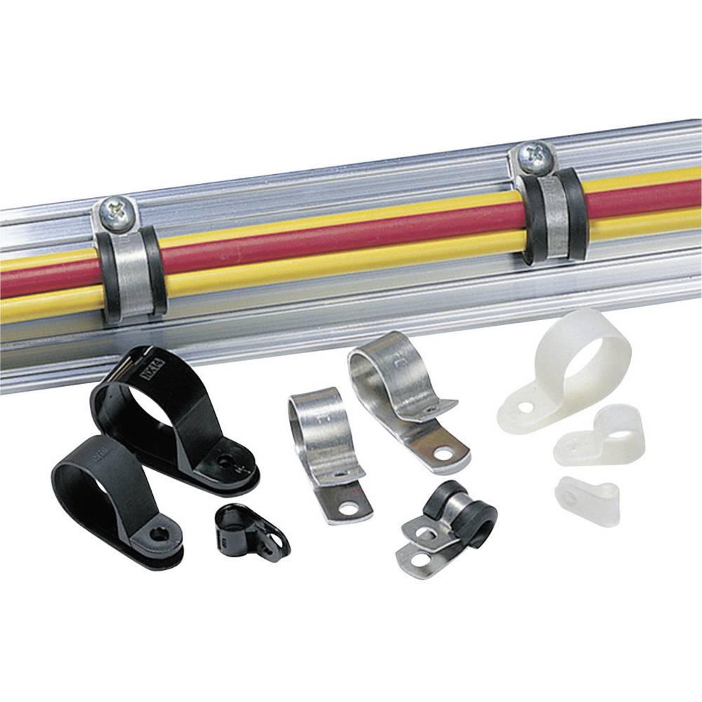 HellermannTyton-ALU11-ALU-NA-C1-Montažna obujmica, aluminij, promjer zatezanja: 17.5 mm, 1 komad 211-10110