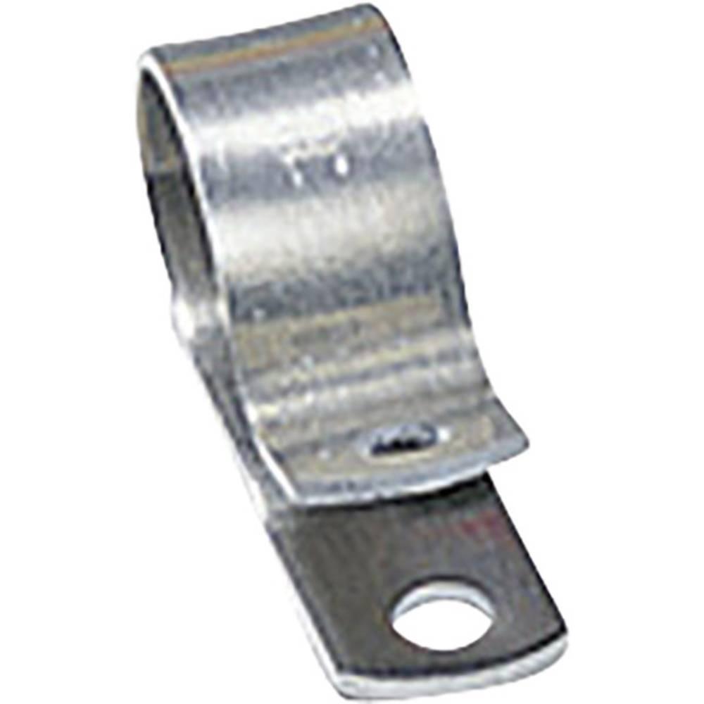 HellermannTyton-ALU4-ALU-NA-C1-Montažna obujmica, aluminij, promjer zatezanja: 6.4 mm, 1 komad 211-10040