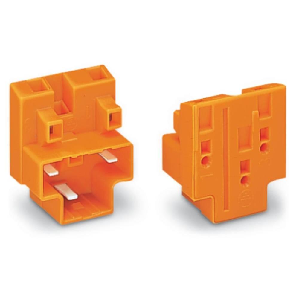 Povezovalna sponka, toga: 0.75-1.5 mm št. polov: 3 WAGO 730-113 50 kos oranžna