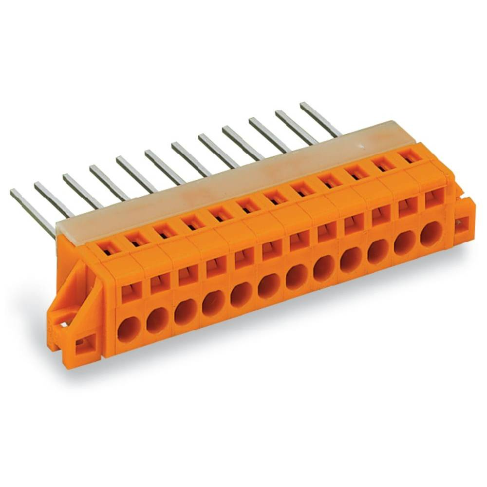 Fjederkraftsklemmeblok WAGO 2.50 mm² Poltal 3 Orange 50 stk