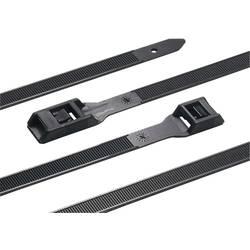 Vezice za kabele 275 mm crne boje izdržljive, UV-stabilno, temperaturno stabilan, za višekratnu upotrebu HellermannTyton 112-275