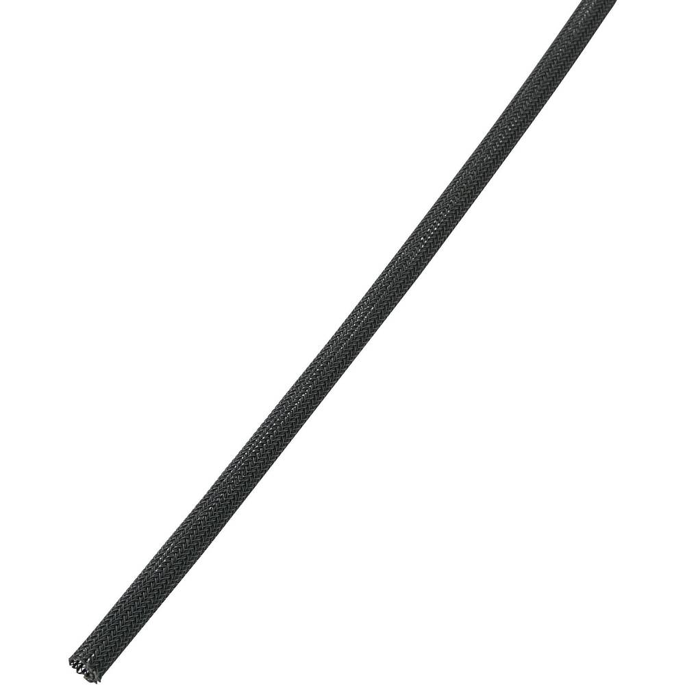 Pletena cev s samodejnim zapiranjem BS1000-FR1, premer: 3,2mm, črna, metrsko blago 28531c83