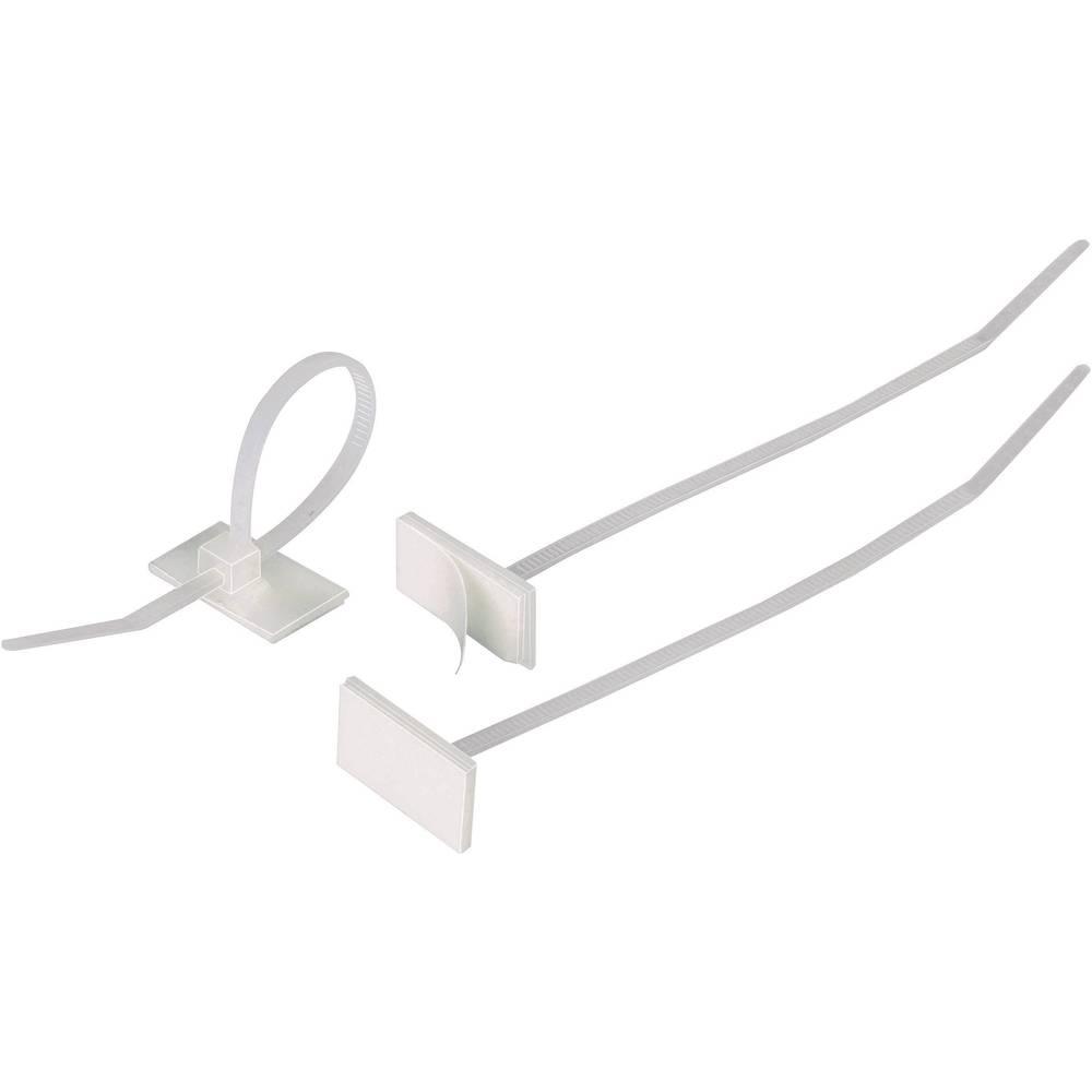 Kabelske vezice 100 mm naravne barve z lepilom HellermannTyton 148-00001 T18RSA-PA66-NA-C1 1 kos