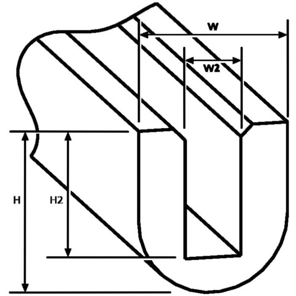 EdgeGuard zaštita rubova crna,roba na metar RA1-PVC-BK-75M,HellermannTyton 800-00001