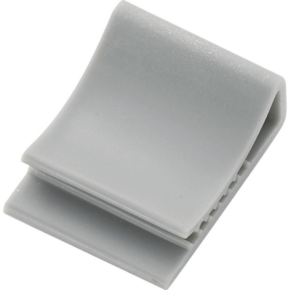 Pritrdilno podnožje za ploščati kabel sive barve 93014c146 FCC-15 1 kos
