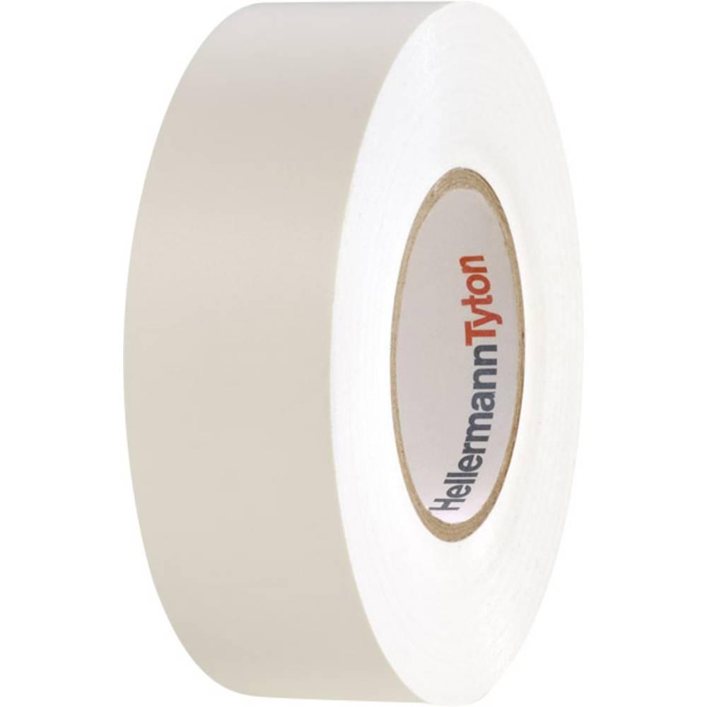PVC izolirni trak HellermannTyton HelaTape Flex 1000+ bele barve (D x Š) 20 m x 19 mm vsebina: 1 kolut