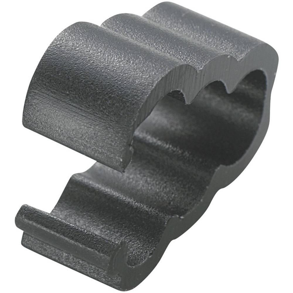 Pritrdilna sponka, namestitev s privijanjem črne barve KSS 28530c755 RC-34 1 kos