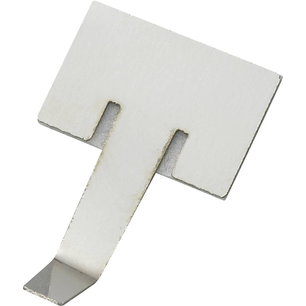 Samoljepljiva kabelska objemka, srebrna, 1 komad