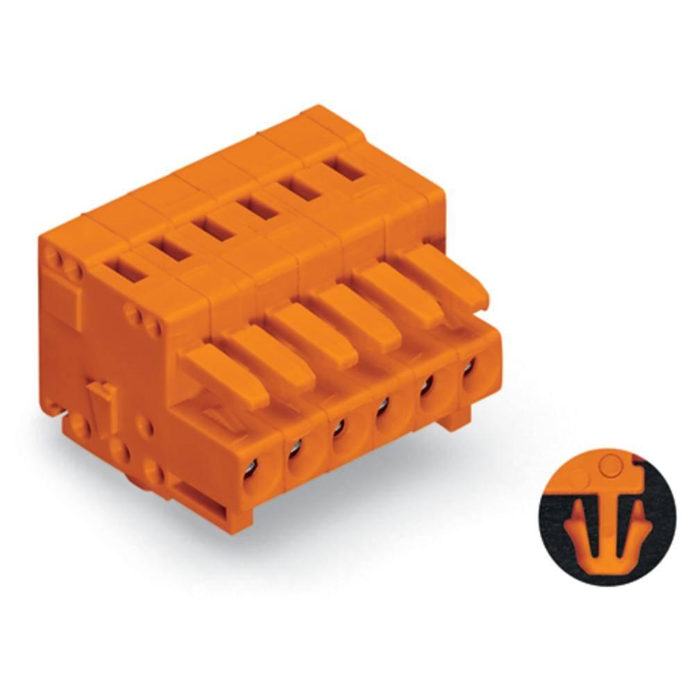 Tilslutningskabinet-kabel 734 (value.1360959) Samlet antal poler 16 WAGO 734-216/008-000 Rastermål: 3.81 mm 25 stk