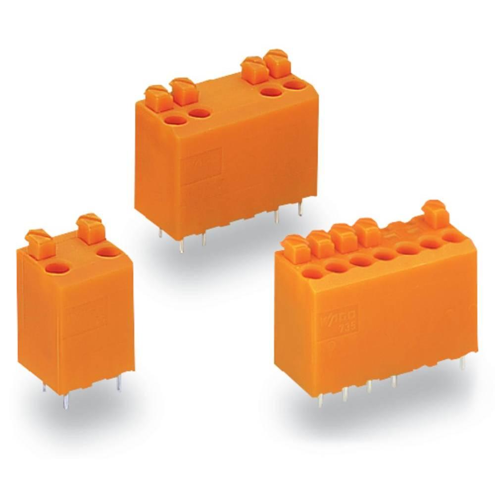 Fjederkraftsklemmeblok WAGO Poltal 5 Orange 180 stk