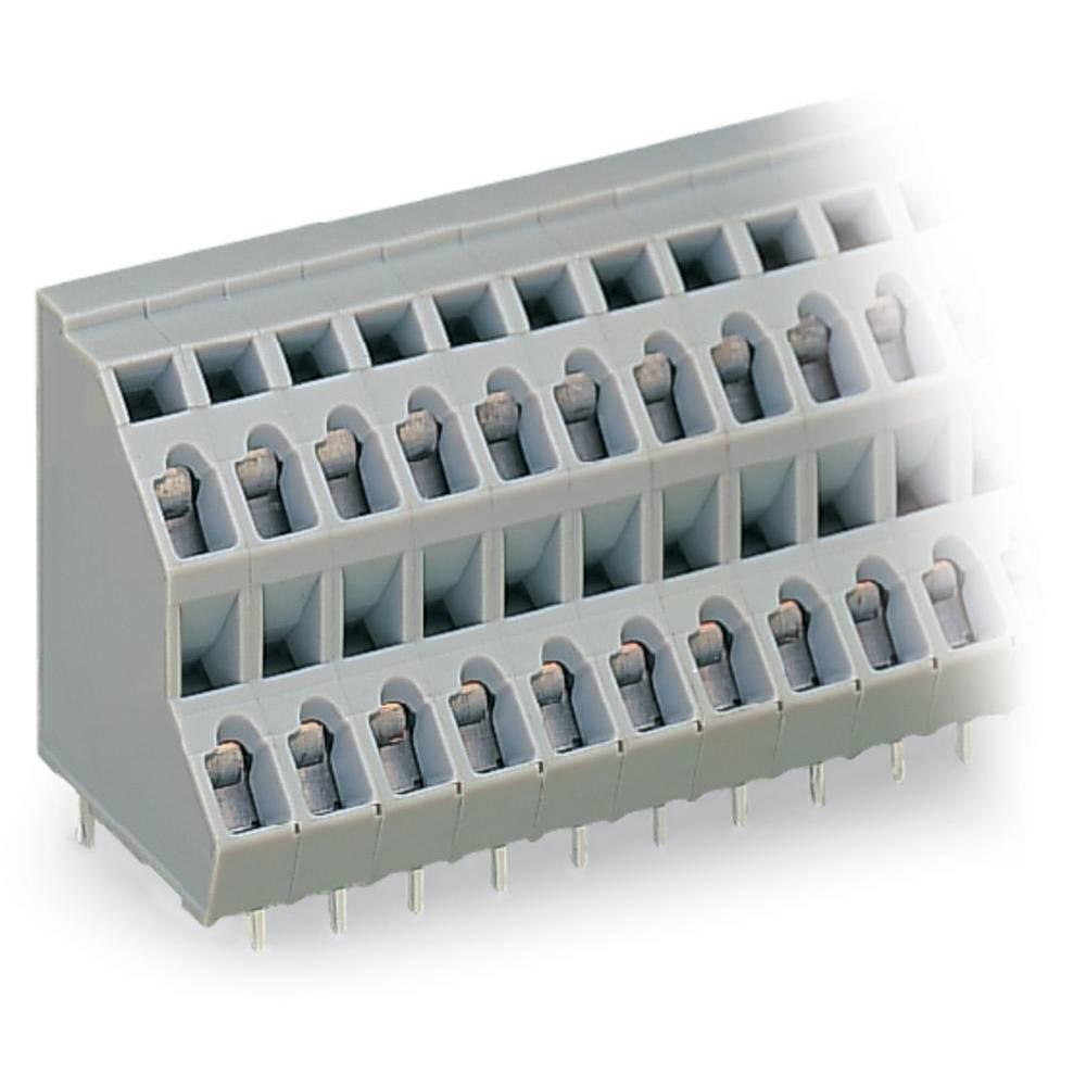 Dobbeltrækkeklemme WAGO 2.50 mm² Poltal 48 Grå 14 stk