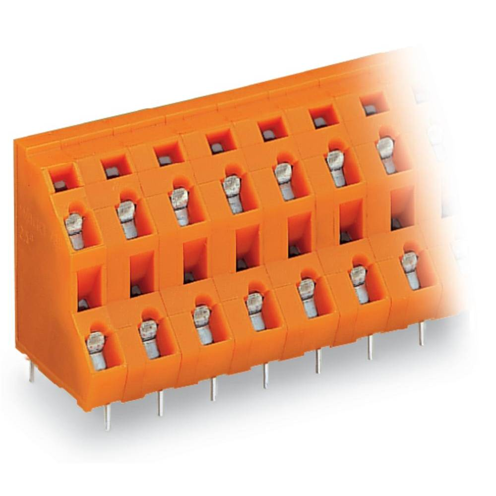Dobbeltrækkeklemme WAGO 2.50 mm² Poltal 24 Orange 14 stk