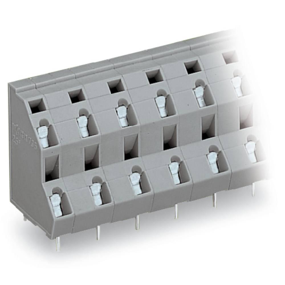Dobbeltrækkeklemme WAGO 2.50 mm² Poltal 8 Grå 49 stk