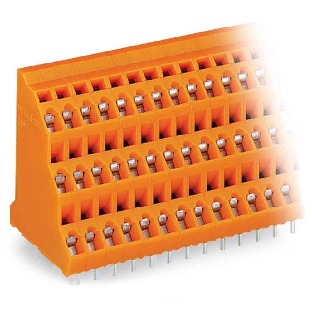 Tre-etagesklemme WAGO 2.50 mm² Poltal 72 Orange 8 stk