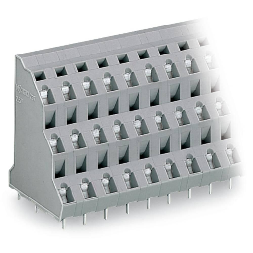 Tre-etagesklemme WAGO 2.50 mm² Poltal 24 Grå 16 stk