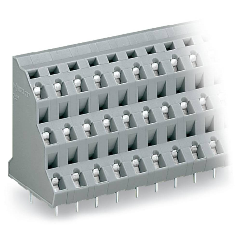 Tre-etagesklemme WAGO 2.50 mm² Poltal 6 Grå 76 stk