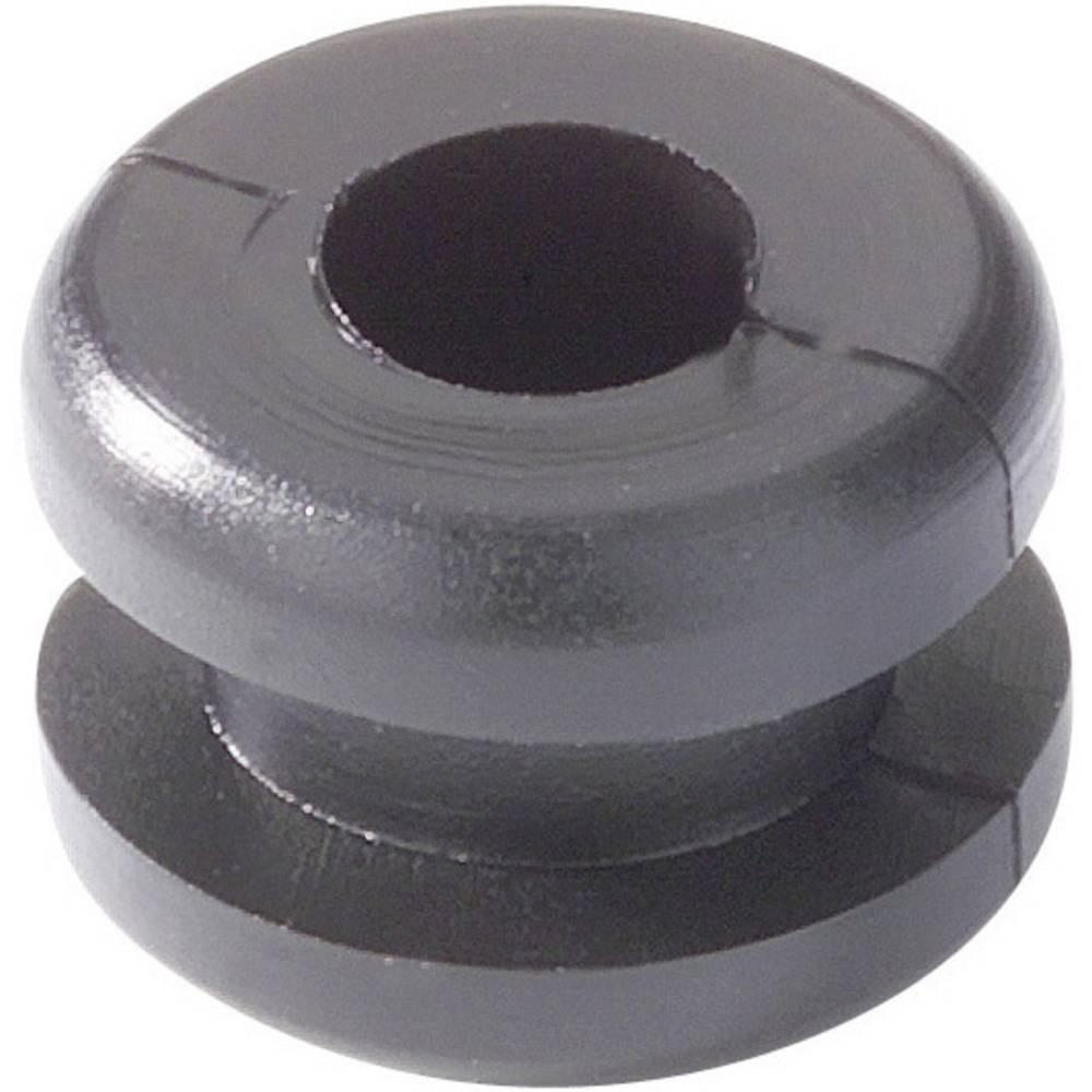 Kabelska uvodnica premer sponke (maks.) 4 mm PVC črne barve HellermannTyton HV1201B-PVC-BK-N1 1 kos