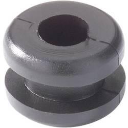 Kabelgenomföring HellermannTyton HV1201B-PVC-BK-N1 Kläm-Ø (max.) 4 mm PVC Svart 1 st