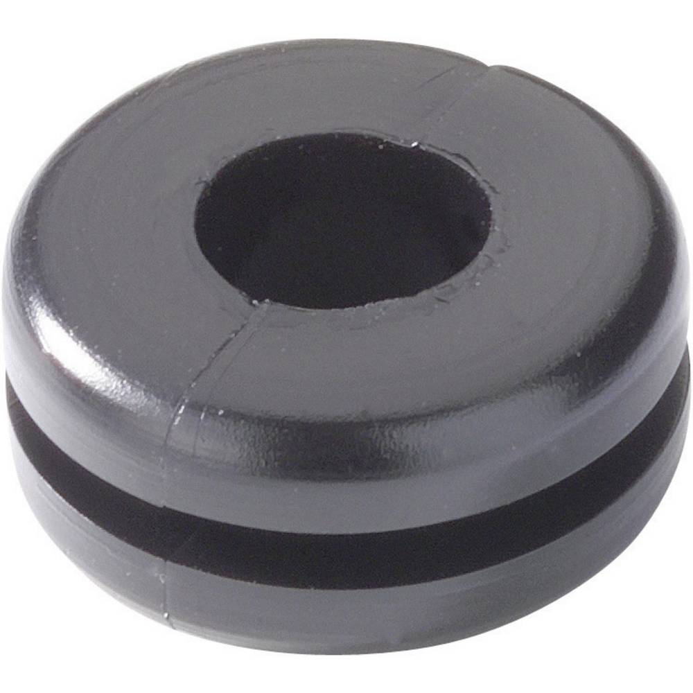 Kabelska uvodnica premer sponke (maks.) 6 mm PVC črne barve HellermannTyton HV1207-PVC-BK-M1 1 kos