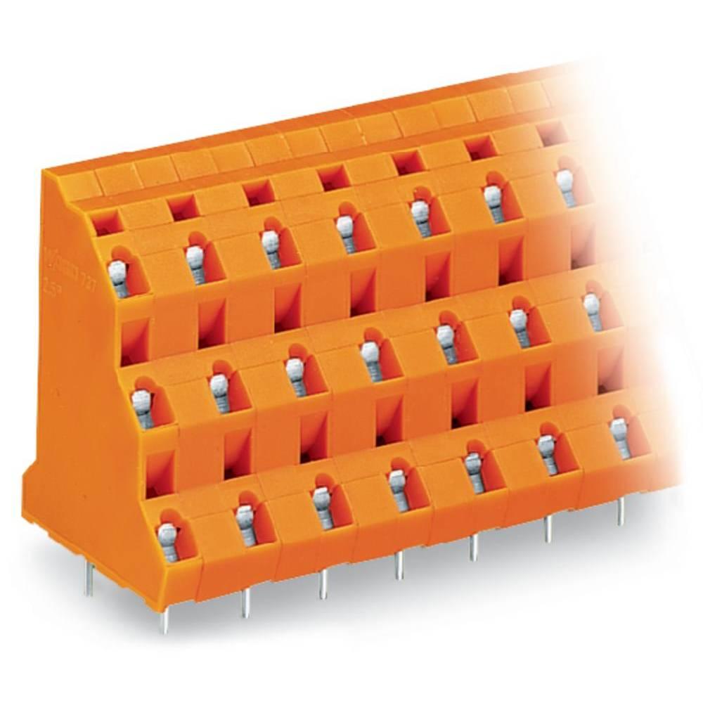 Tre-etagesklemme WAGO 2.50 mm² Poltal 18 Orange 16 stk