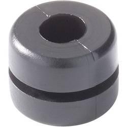 Kabelgenomföring HellermannTyton HV1212-PVC-BK-N1 Kläm-Ø (max.) 4 mm PVC Svart 1 st