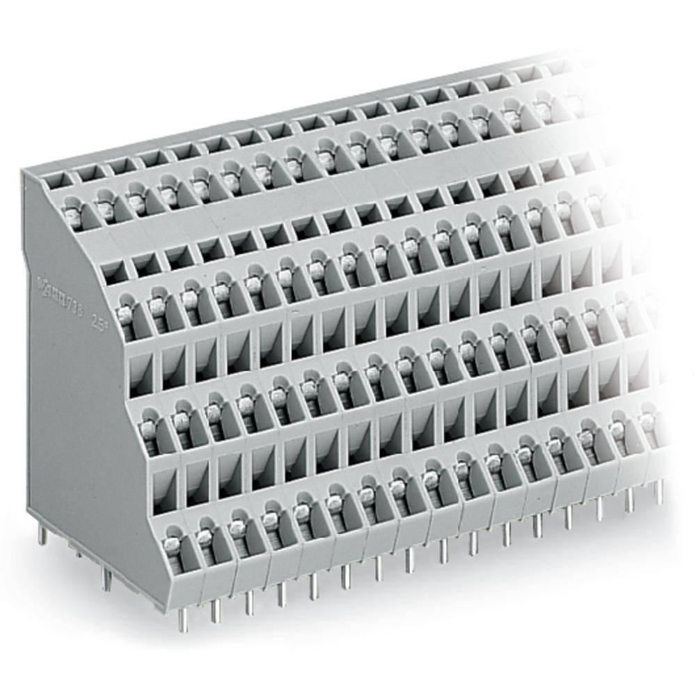 Fireetagers-klemme WAGO 2.50 mm² Poltal 24 Grå 24 stk