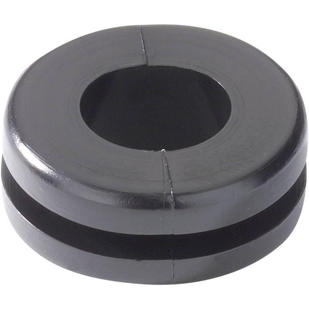 Kabelska uvodnica, promjer sponke (maks.) 8 mm PVC crne boje HellermannTyton HV1303-PVC-BK-M1 1 kom