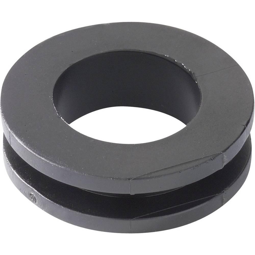 Kabelska uvodnica premer sponke (maks.) 14 mm PVC črne barve HellermannTyton HV1305-PVC-BK-D1 1 kos