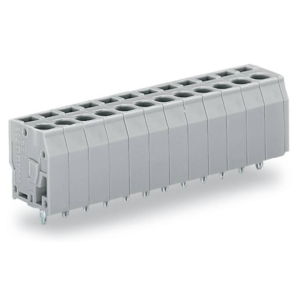 Fjederkraftsklemmeblok WAGO 2.50 mm² Poltal 3 Grå 280 stk