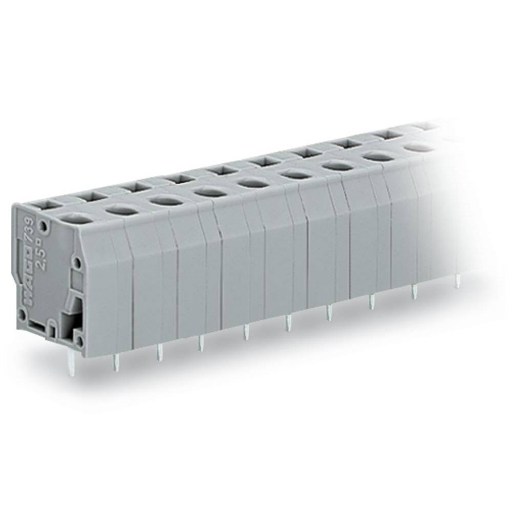 Fjederkraftsklemmeblok WAGO 2.50 mm² Poltal 9 Grå 60 stk