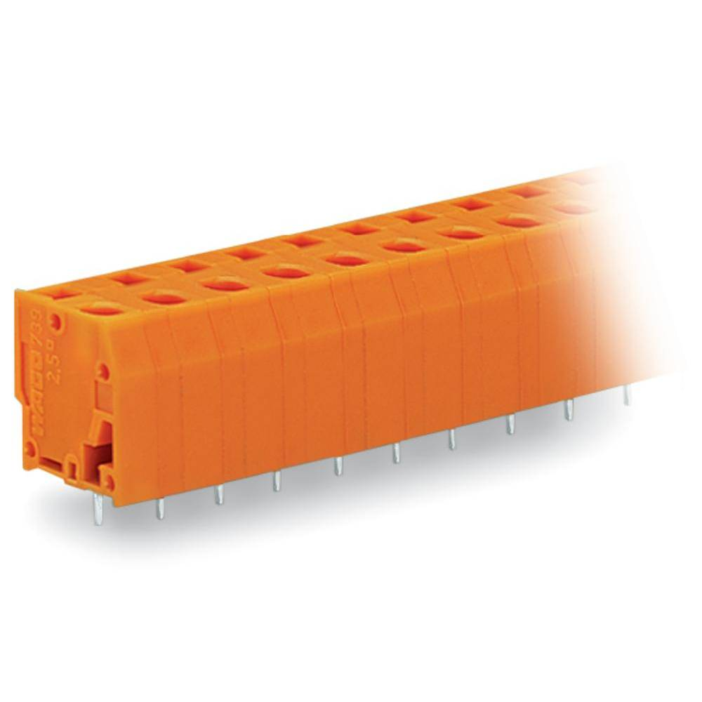 Fjederkraftsklemmeblok WAGO 2.50 mm² Poltal 4 Orange 160 stk