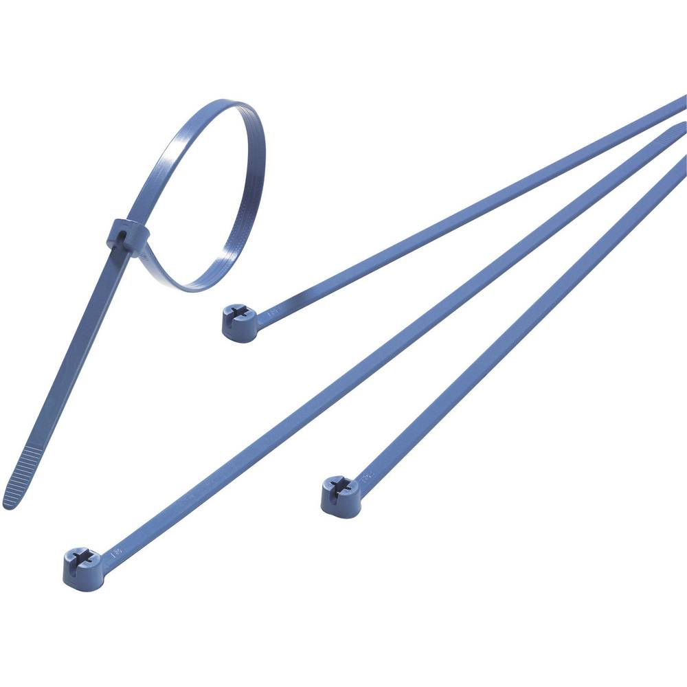 Vezice za kabele 340 mm plave boje, s metalnim jezikom ABB TY527M-NDT 50 kom