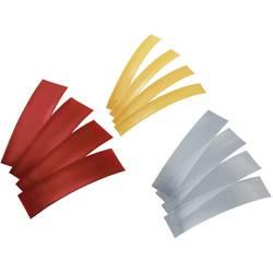 TRU COMPONENTS 1570851 Skupljajuća cijev za baterije bez ljepila Crvena, Prozirna, Žuta Stopa skupljanja:2:1 1 Set