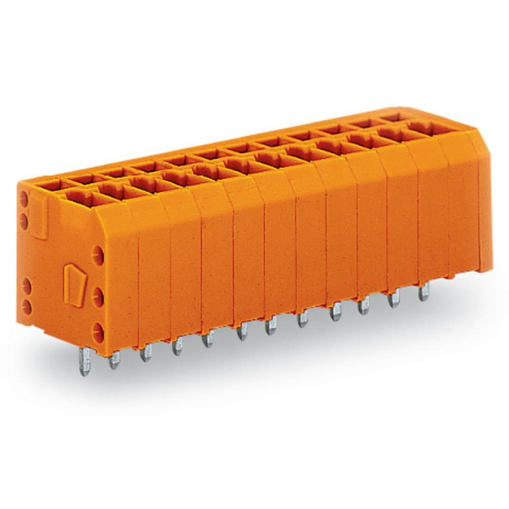Fjederkraftsklemmeblok WAGO 1.50 mm² Poltal 3 Orange 360 stk