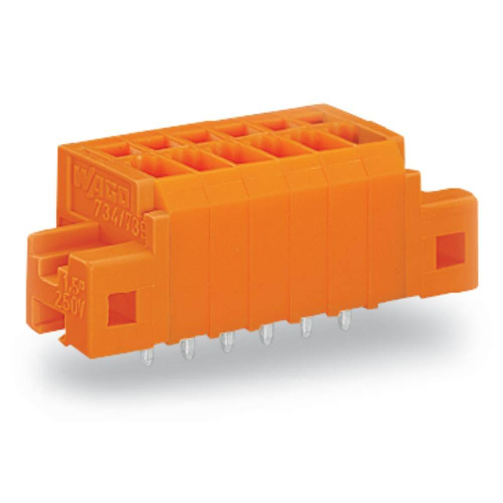 Fjederkraftsklemmeblok WAGO 1.50 mm² Poltal 3 Orange 180 stk