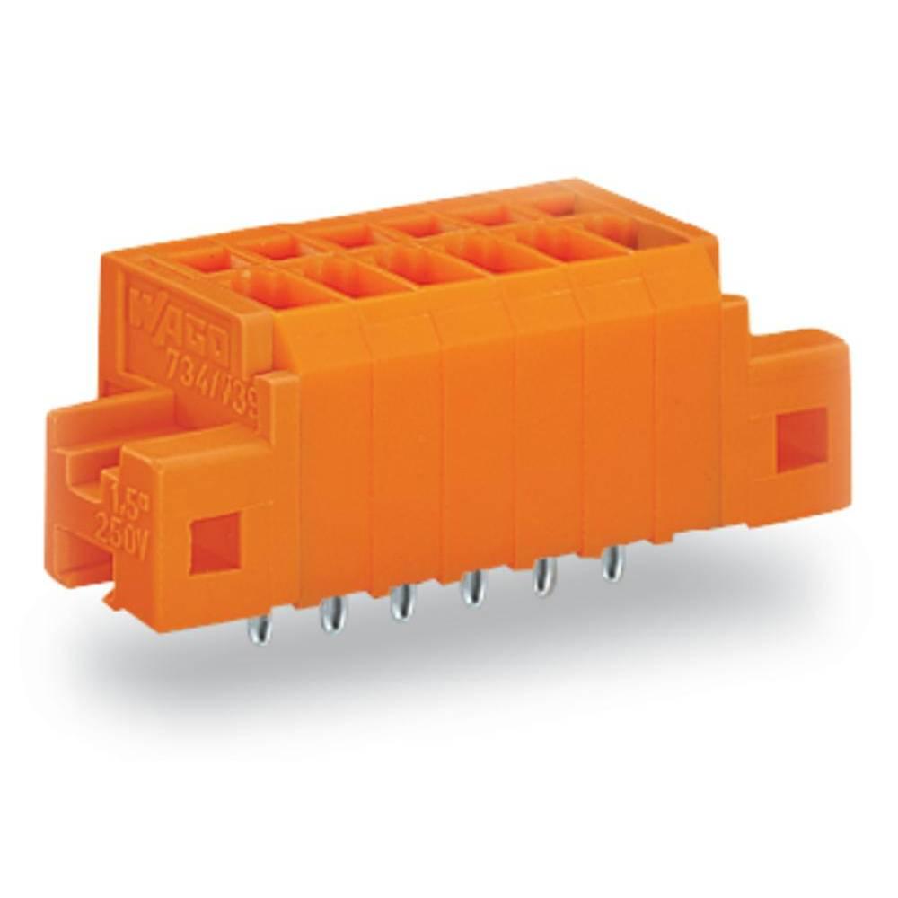 Fjederkraftsklemmeblok WAGO 1.50 mm² Poltal 7 Orange 100 stk