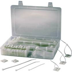 Sortiment kabelskih vezic 190 mm prozorna, z lepilnim podnožjem TRU COMPONENTS 1566420 EPR-350 1 komplet