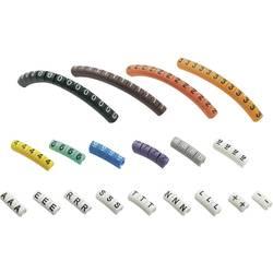 Priponka za označevanje kablov, natisnjen simbol 0 - 9, A, E, L, N, R, S, T, -, + zunanji premer razpona 1 do 3 mm 545007 ECMKP-