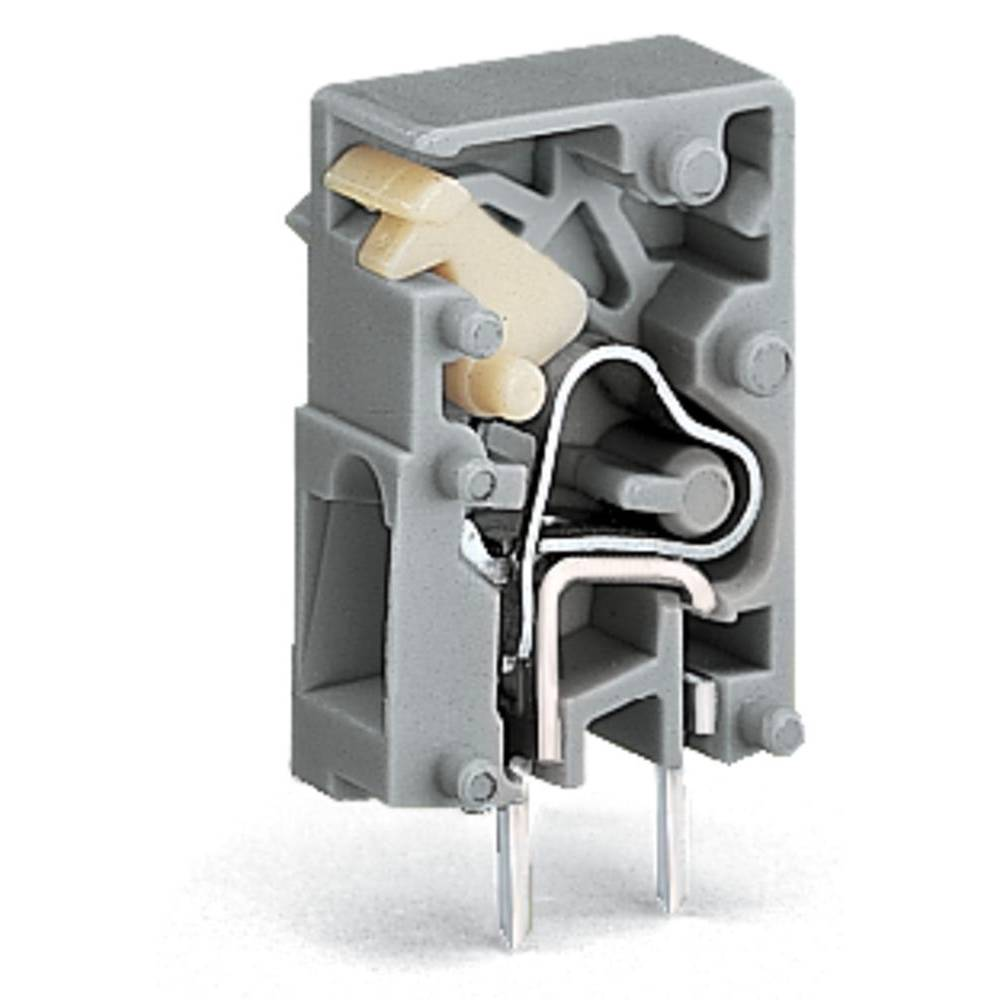 Fjederkraftsklemmeblok WAGO 2.50 mm² Poltal 1 Grå 4320 stk