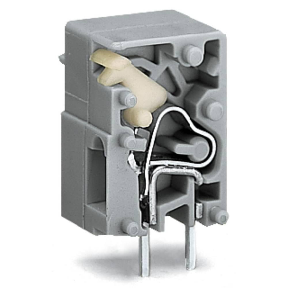 Fjederkraftsklemmeblok WAGO 2.50 mm² Poltal 1 Grå 2160 stk