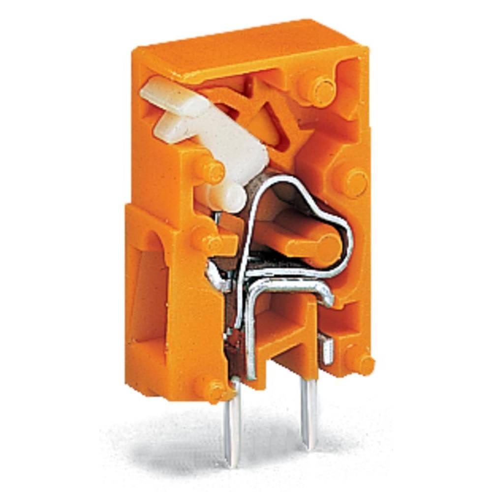 Fjederkraftsklemmeblok WAGO 2.50 mm² Poltal 1 Orange 4320 stk