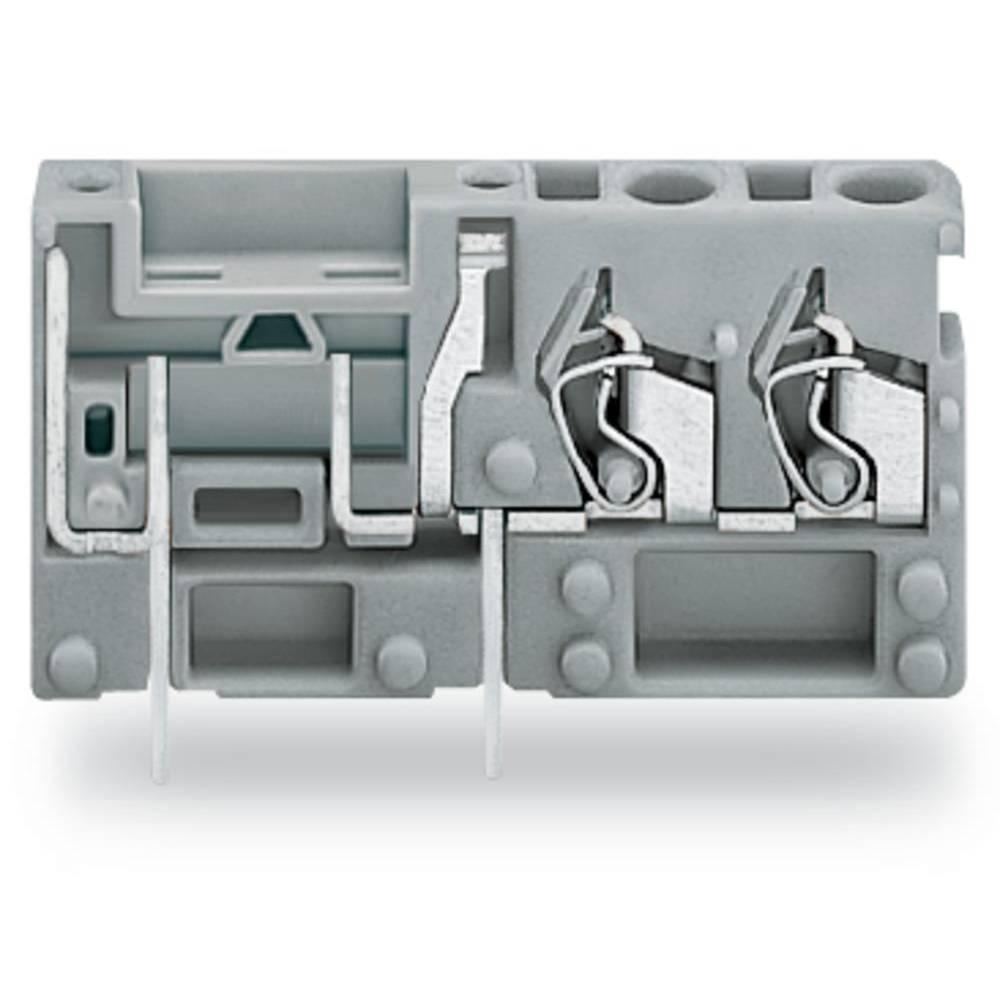 Fjederkraftsklemmeblok WAGO 2.50 mm² Poltal 1 Grå 200 stk