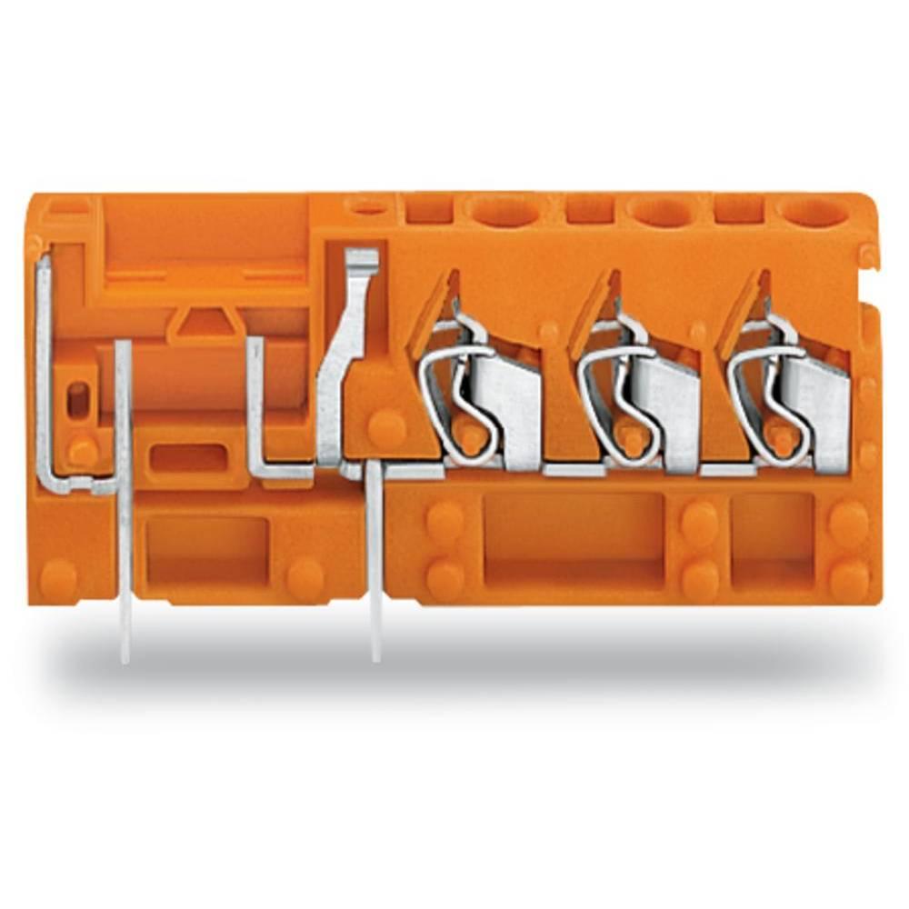 Fjederkraftsklemmeblok WAGO 2.50 mm² Poltal 1 Orange 100 stk