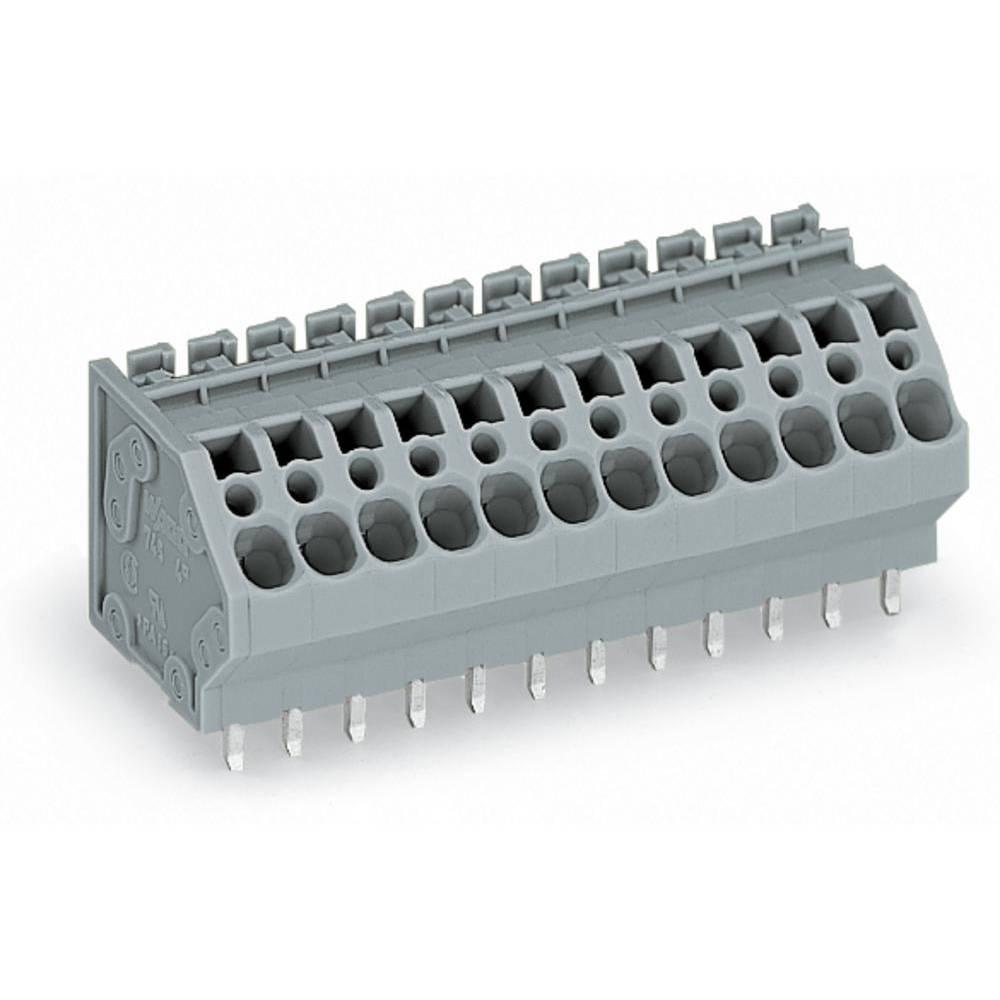 Fjederkraftsklemmeblok WAGO 4.00 mm² Poltal 4 Grå 80 stk
