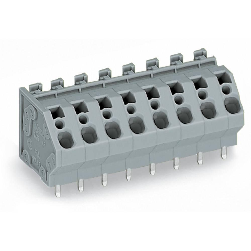 Fjederkraftsklemmeblok WAGO 4.00 mm² Poltal 10 Grå 30 stk