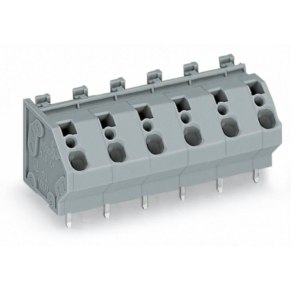 Fjederkraftsklemmeblok WAGO 4.00 mm² Poltal 2 Grå 160 stk