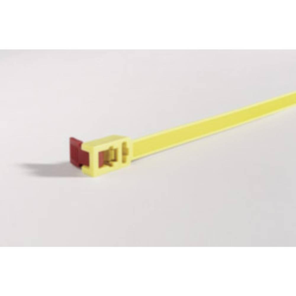 Vezice za kabele 750 mm žute boje, crvene boje, za višekratnu upotrebu, mit Rückschlauföse, mit Schnellverschluss HellermannTyto