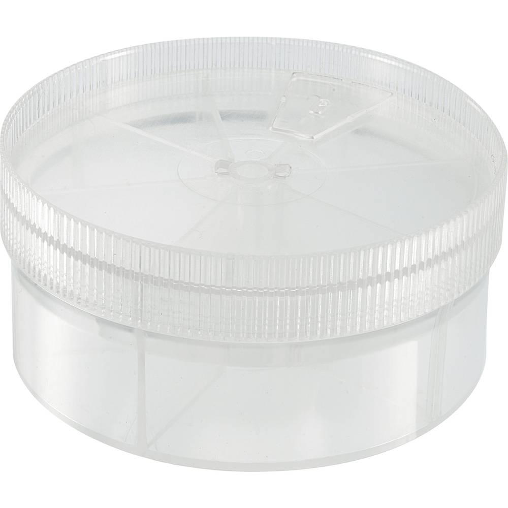 Sortirna škatla (Ø x V) 92 mm x 43.5 mm št. predalov: 7 nastavljiva pregraditev