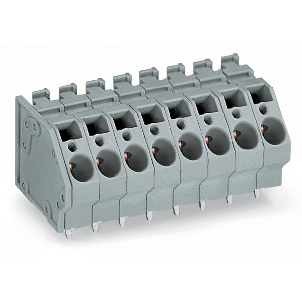 Fjederkraftsklemmeblok WAGO 6.00 mm² Poltal 2 Grå 56 stk